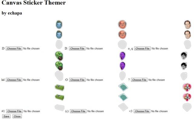 Canvas Sticker Themer
