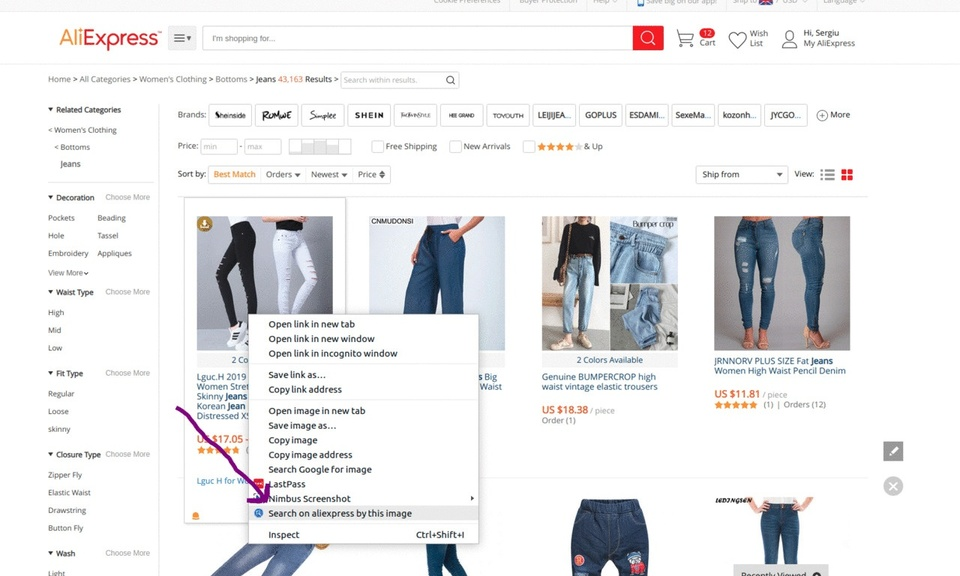 AliExpress Search by Image and Download