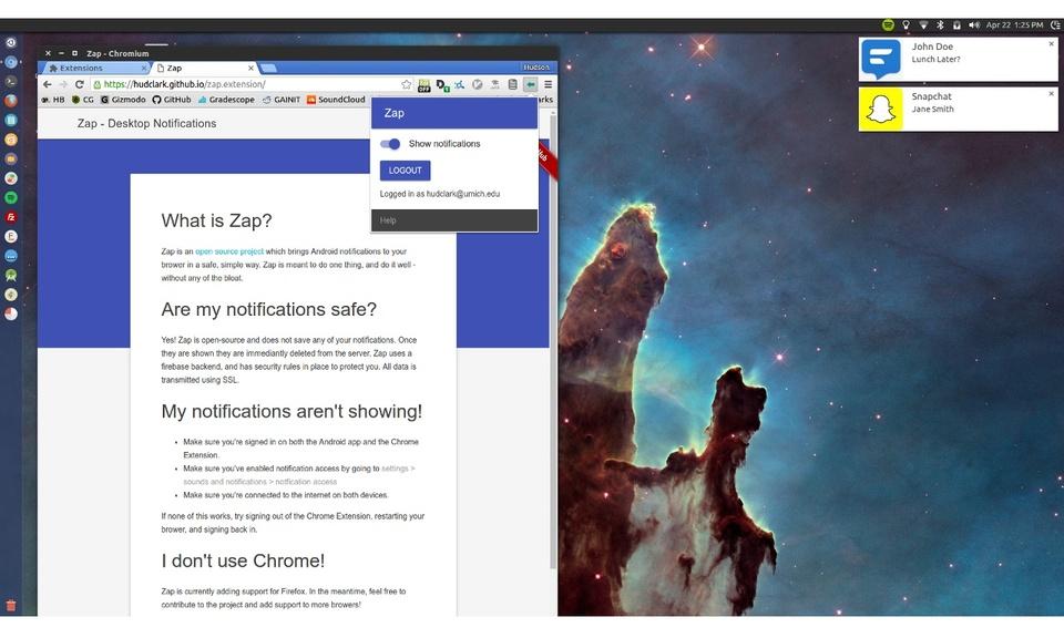 Zap - Desktop Notifications