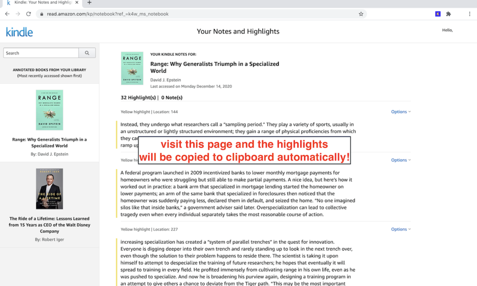 Kindle Highlight Extractor