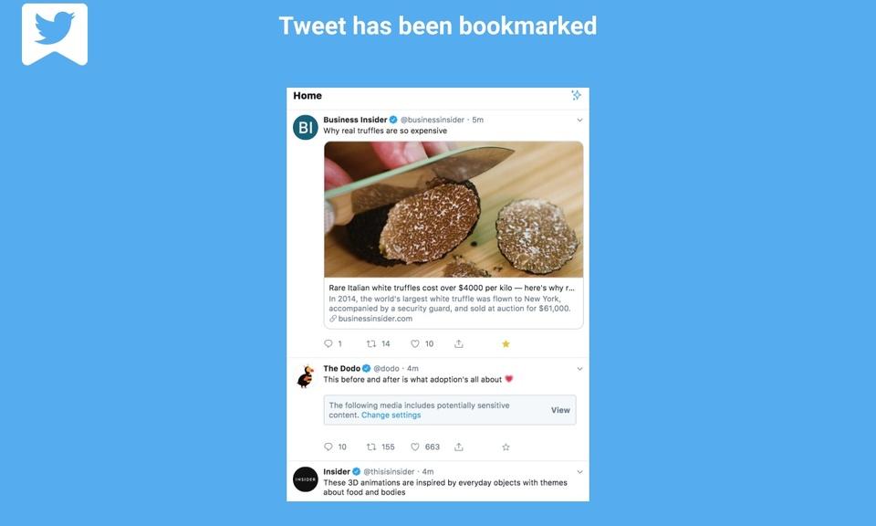 Bookmark Tweet to Browser