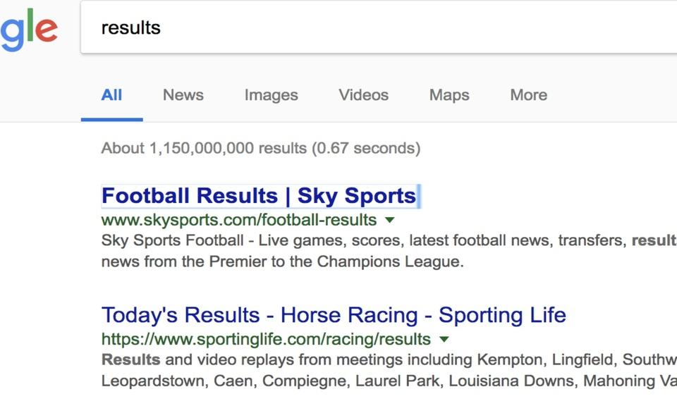 Google Chrome Search Tabbing