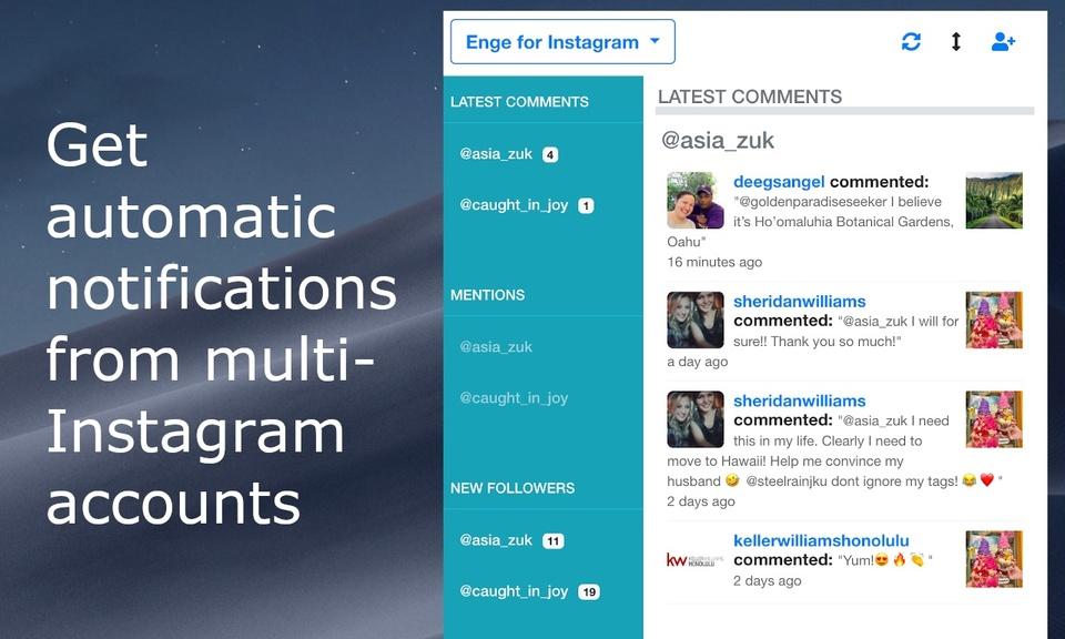 Enge - Multiple Instagram accounts Manager
