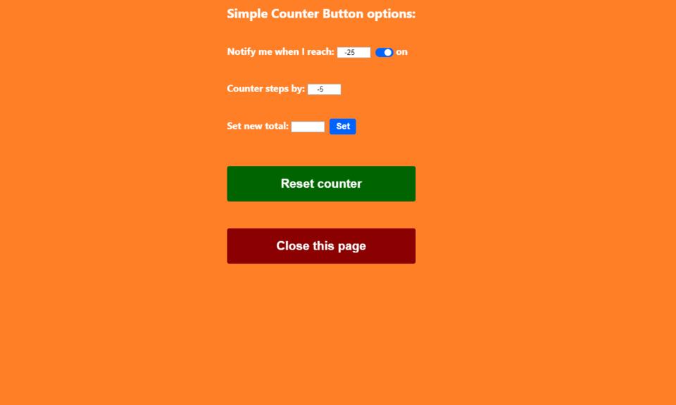 Simple Counter Button