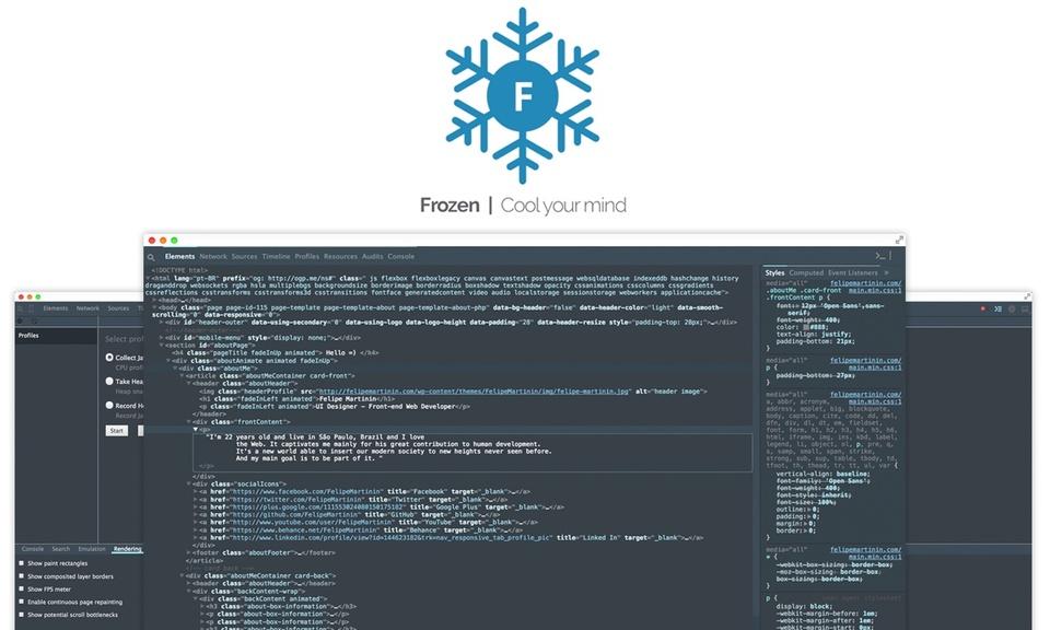 Frozen - A Chrome Devtools Theme