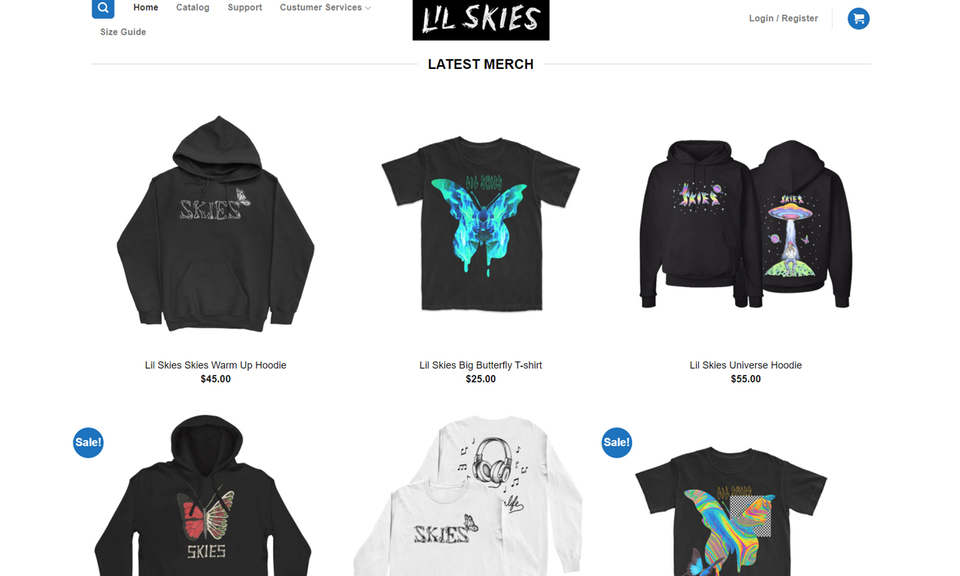 Shop lil skies