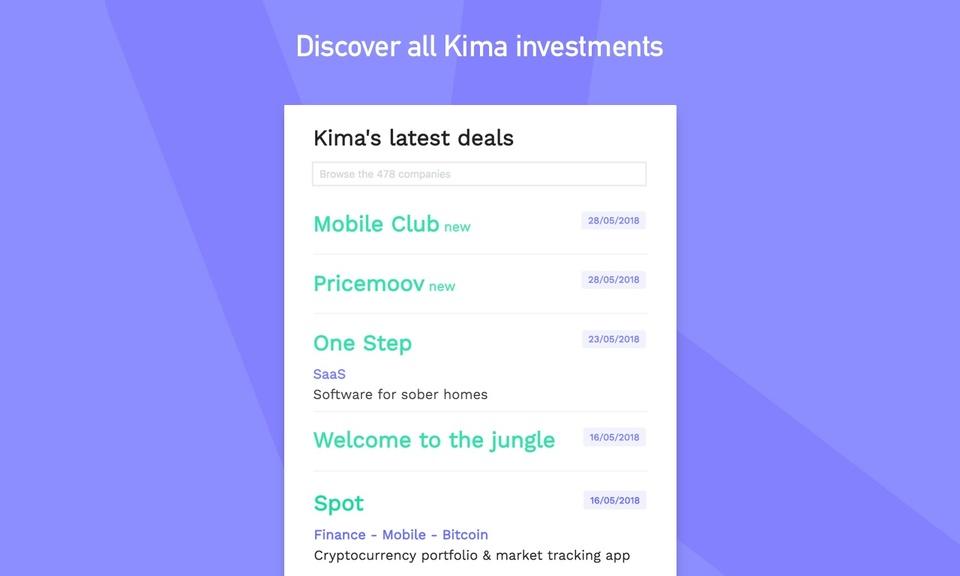 Kima's portfolio tracker