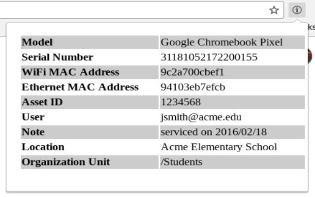 Chrome Device Info
