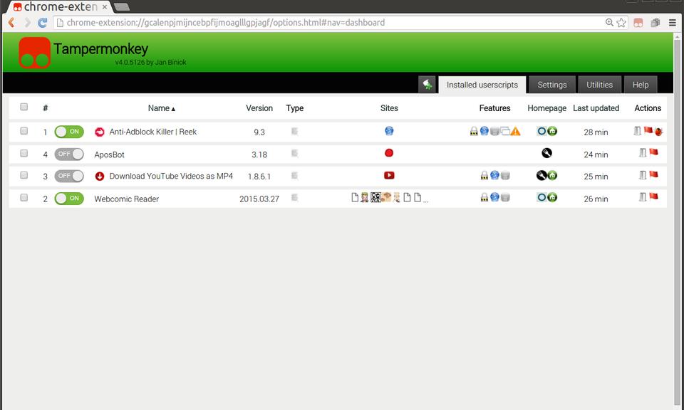 Tampermonkey BETA - 油猴脚本管理器(Beta版)