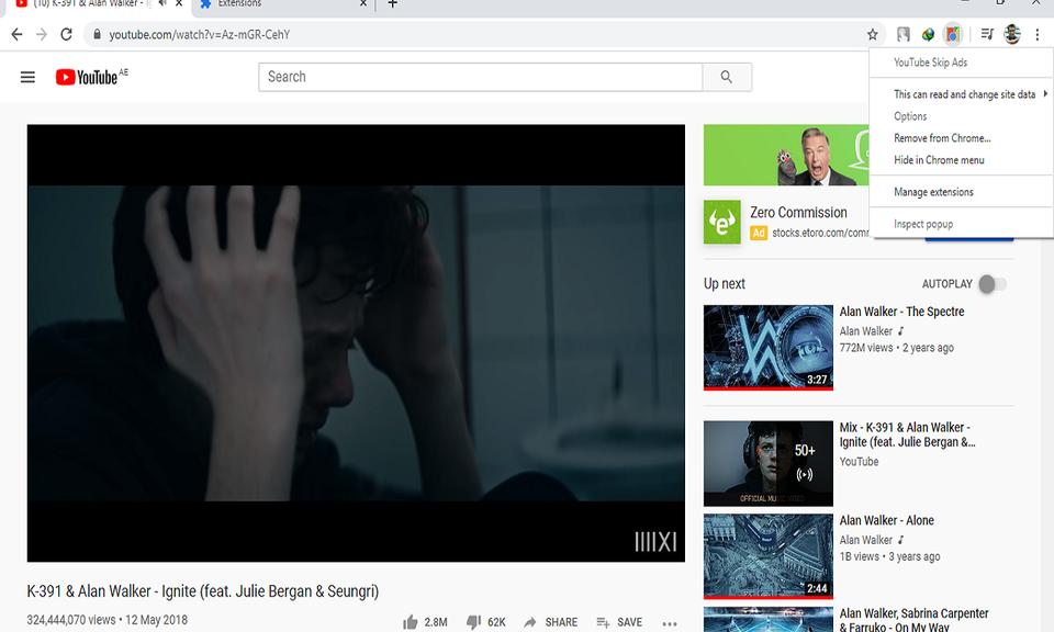 YouTube Skip Ads