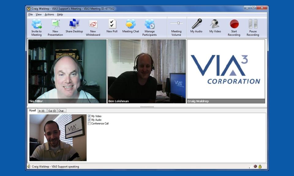 VIA3 - Video Conferencing, Messaging, Storage