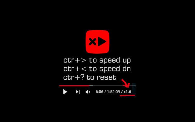 Youtube speed control