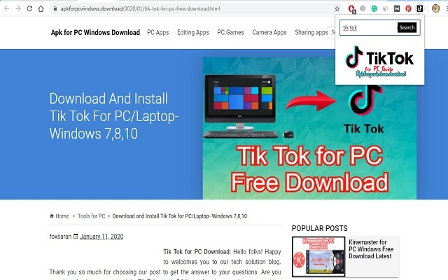 Tik Tok for PC- Video Sharing Guide