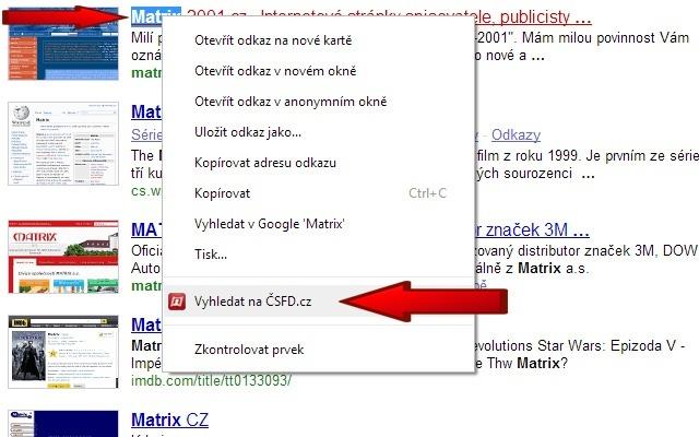 ČSFD Vyhledávač
