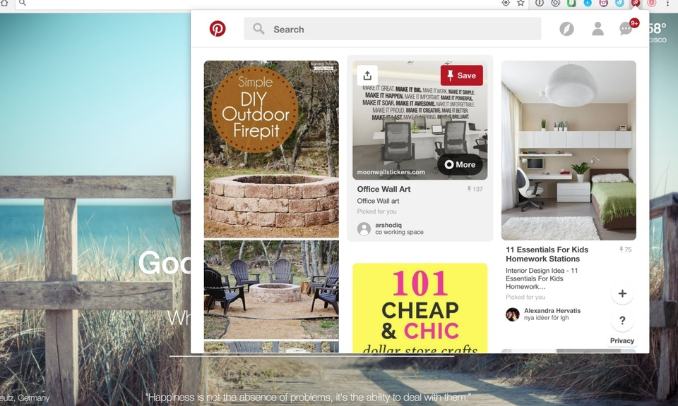 QuickLook for Pinterest