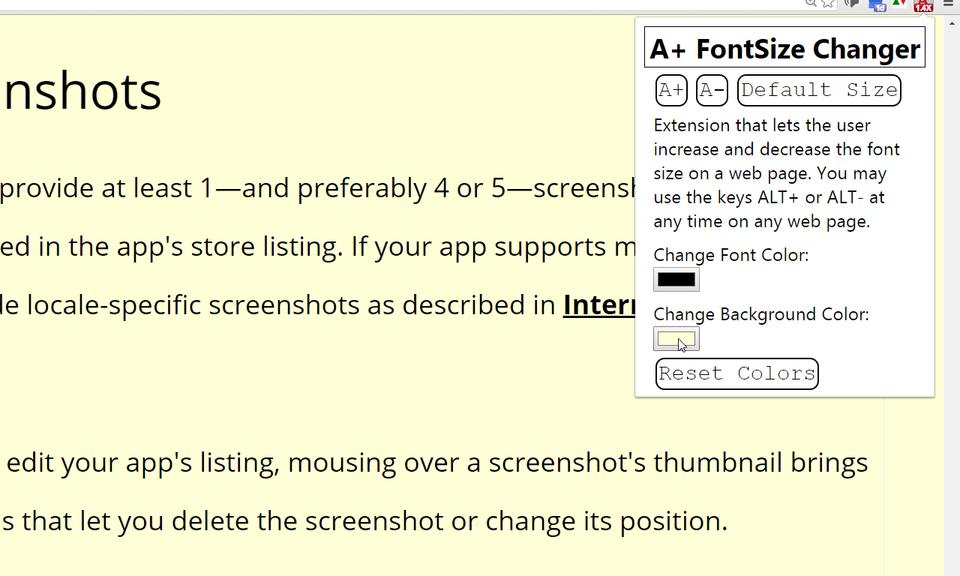 A+ FontSize Changer Pro