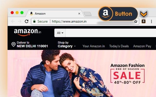 Amazon Button - Shop faster, Save bigger!