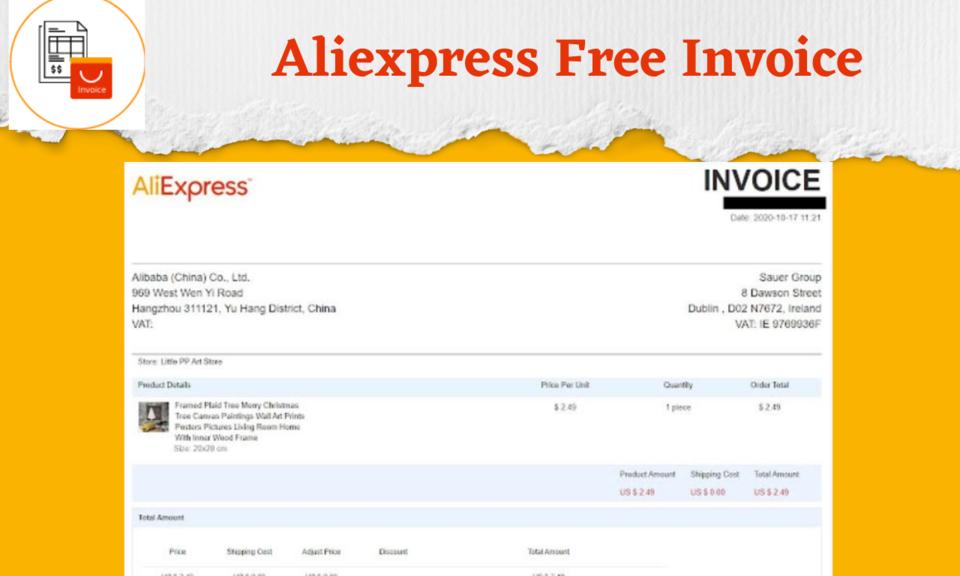 Aliexpress Free invoice - AliInvoice™️