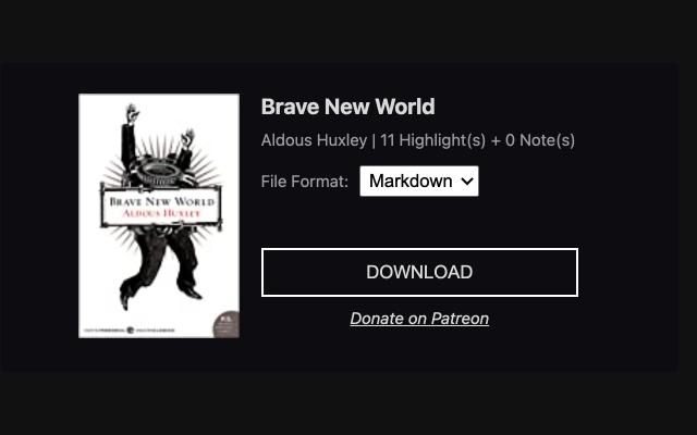 Kindle Notes Downloader