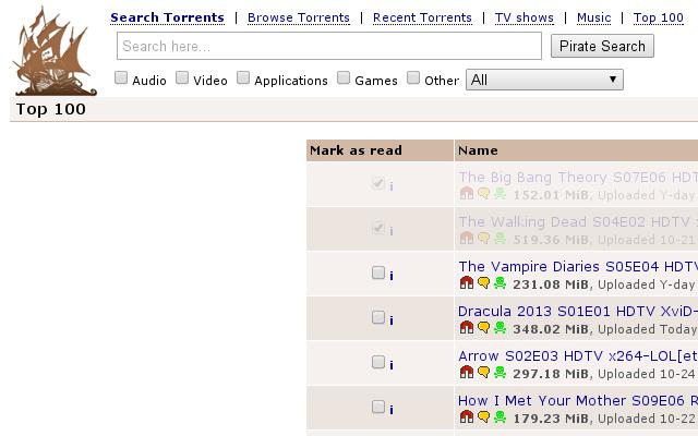 Pirate Bay CheckList Enhancer