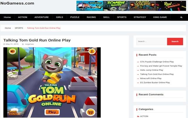 Talking Tom Gold Run Play