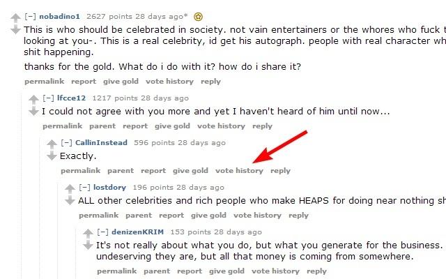 Reddit Vote History