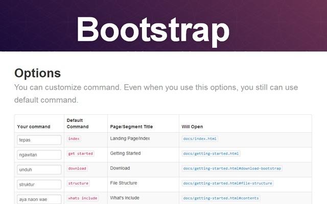 Bootstrap Twitter Offline Docs