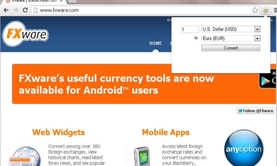 FXware Currency Converter