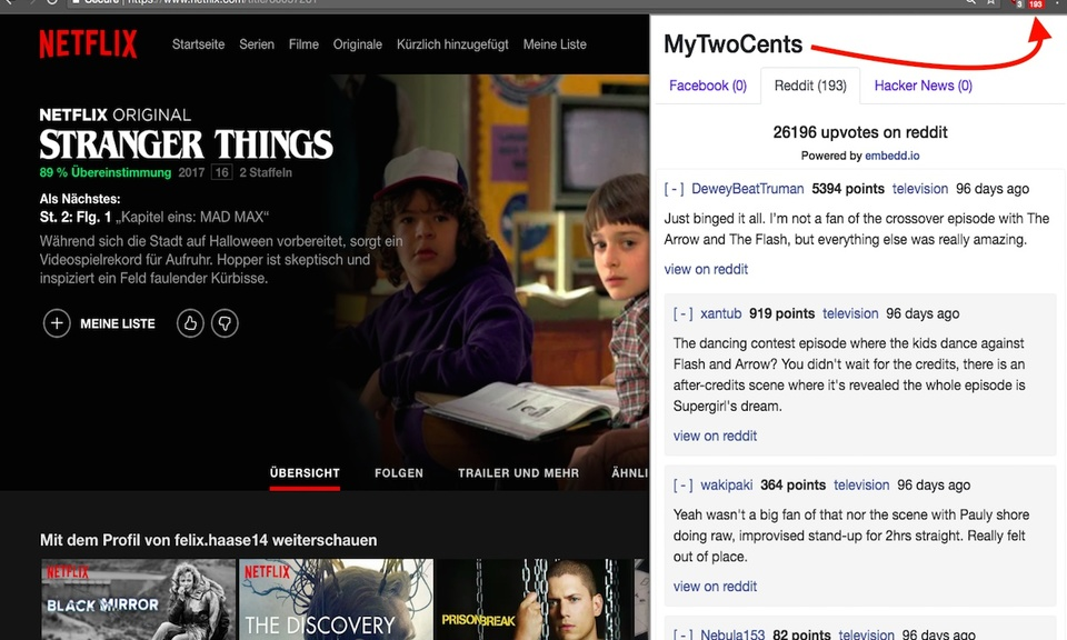 MyTwoCents Comment Aggregator