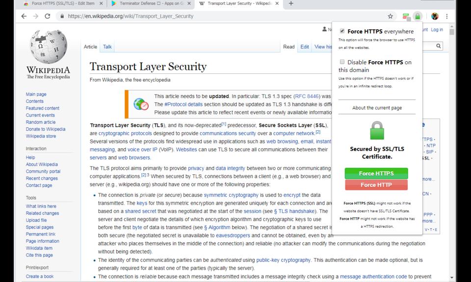Force HTTPS (SSL/TLS)