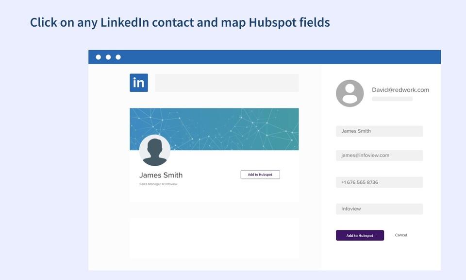 Free LinkedIn to Hubspot importer