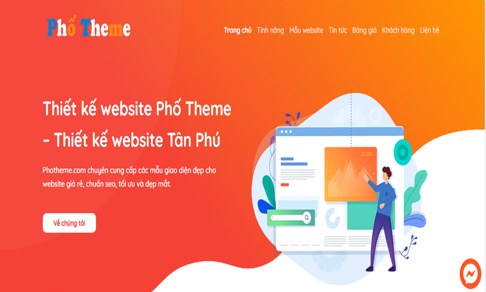 Dịch vụ thiết kế website bán hàng Phố Theme