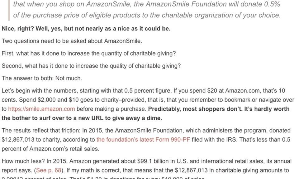 Make Amazon Smile