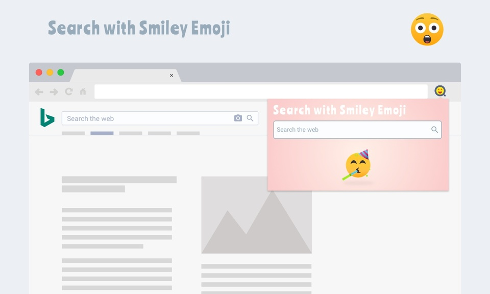 Search with Smiley Emoji
