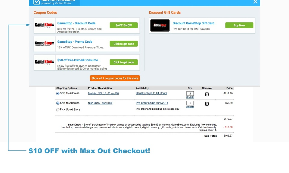 Max Out Checkout