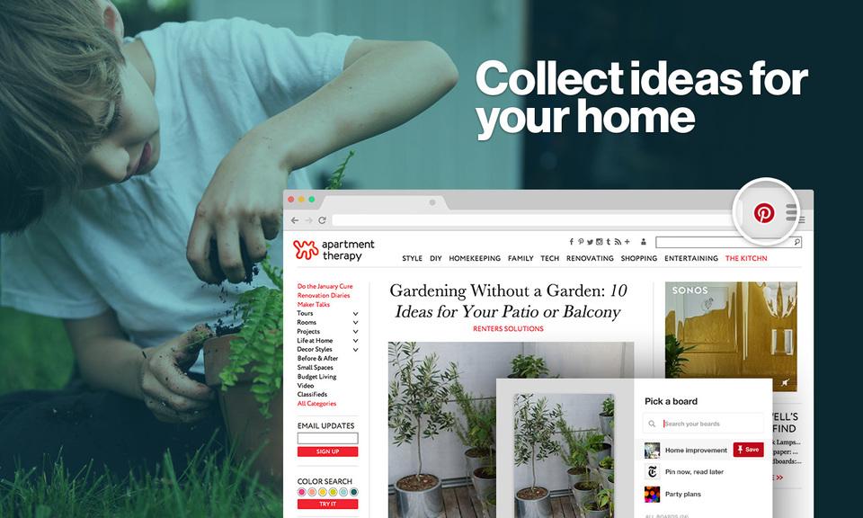 Pinterest Save Button-网页收藏工具
