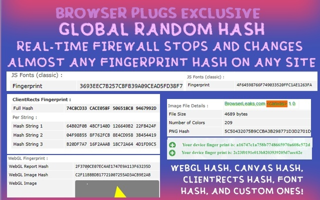 Browser Plugs 指纹隐私防火墙(谷歌浏览器)