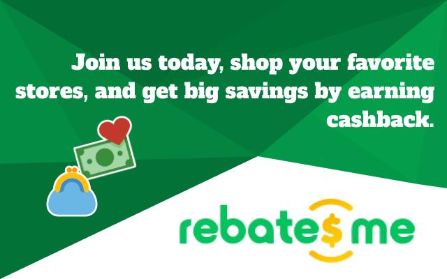 The RebatesMe Cash Back Button