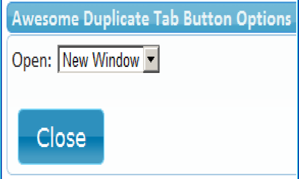 Awesome Duplicate Tab Button