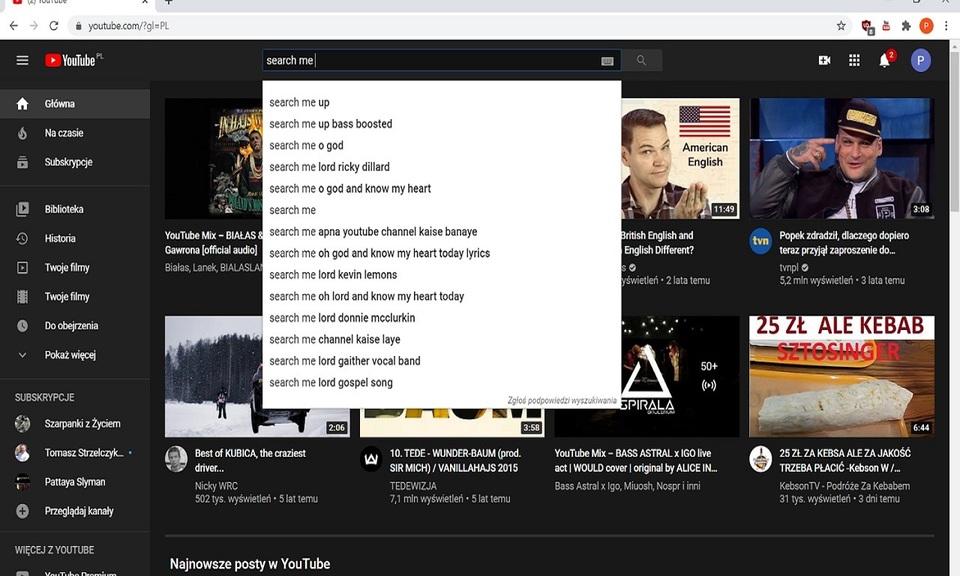Youtube multi tab search