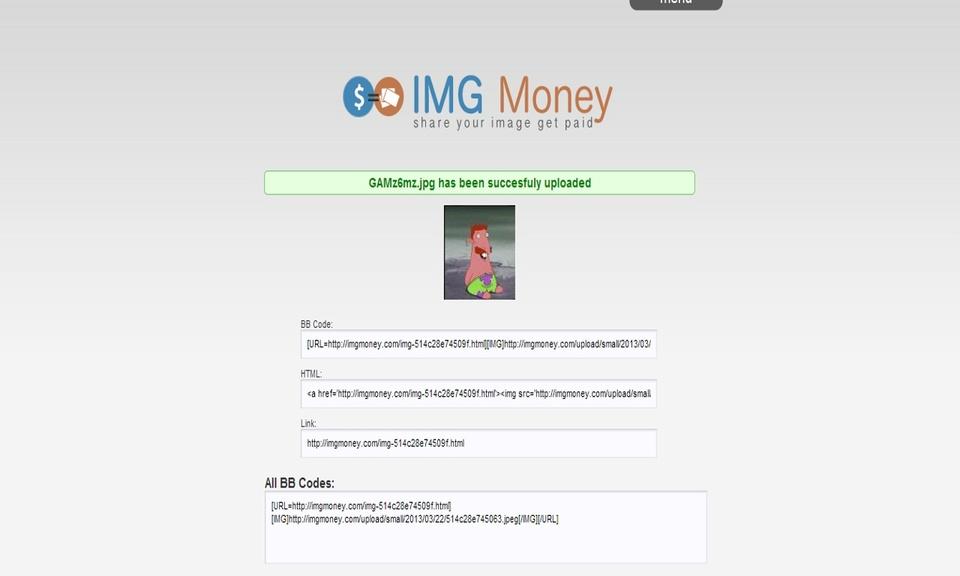 ImgMoney Upload Extension