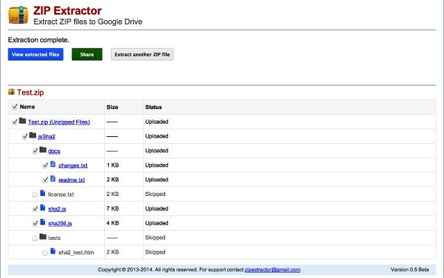 ZIP Archive Extractor Online