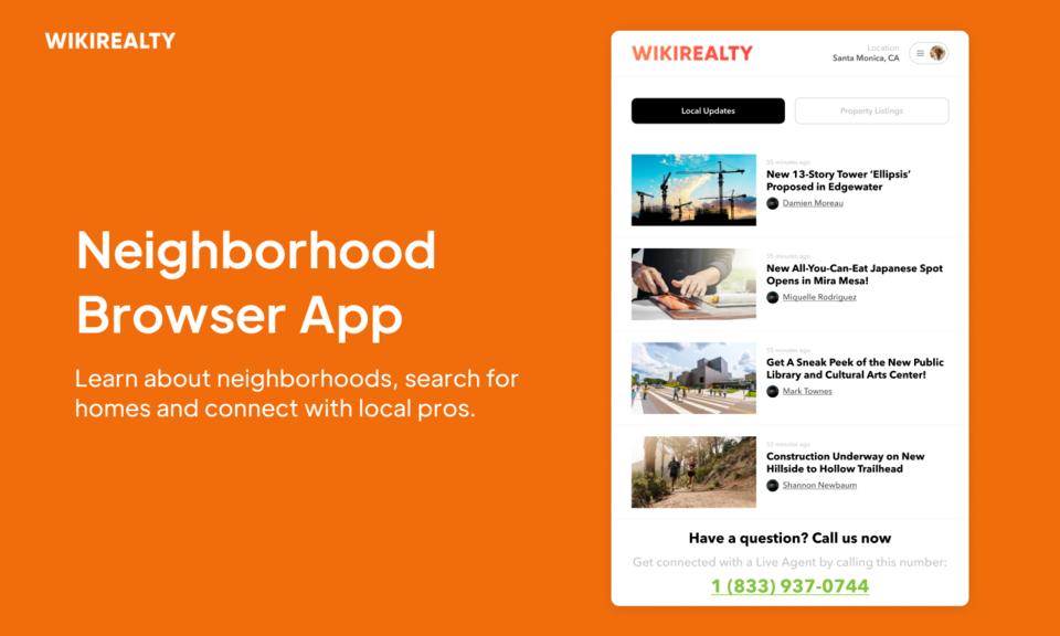 WikiRealty: Neighborhood Search