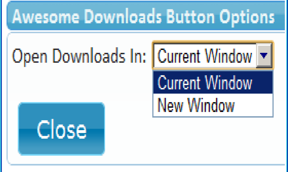 Awesome Downloads Button