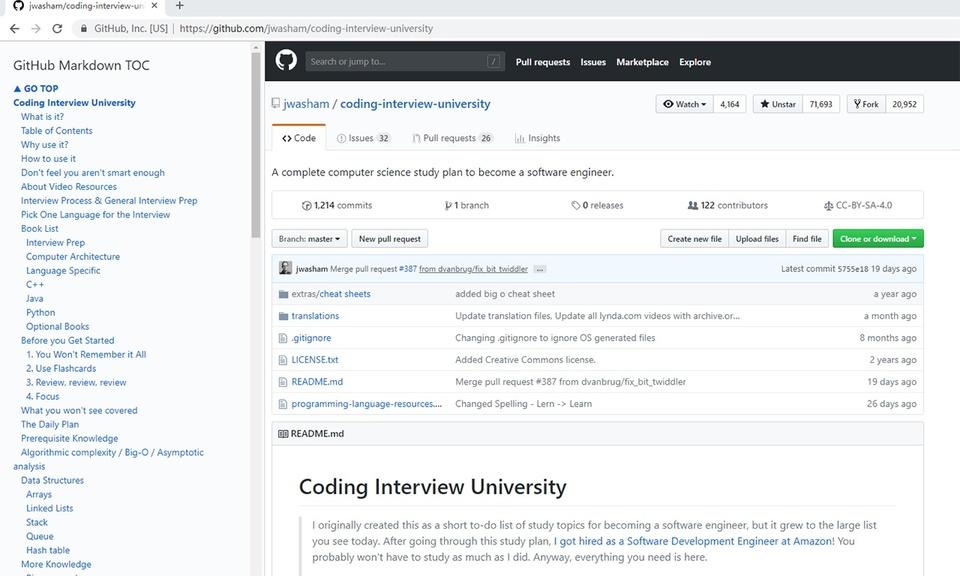 GitHub-Markdown-TOC