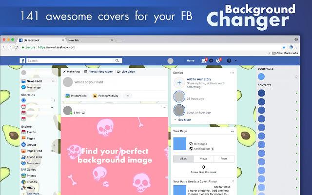 Background Changer for Facebook™ - Facebook™的背景转换器