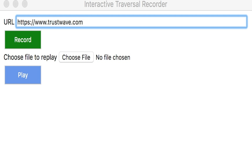 Interactive Traversal Recorder