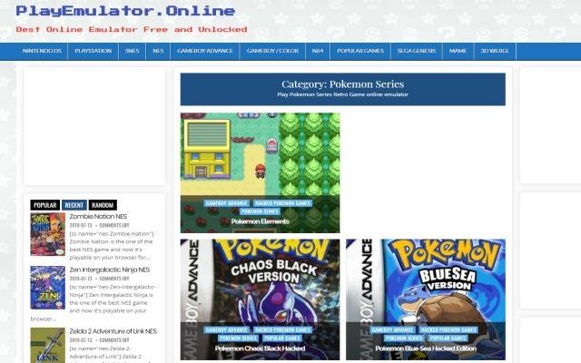 Play All Pokemon Games Free