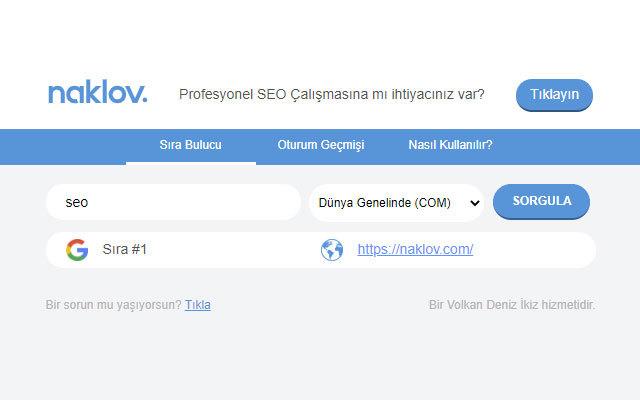 Naklov Google Sıra Bulucu
