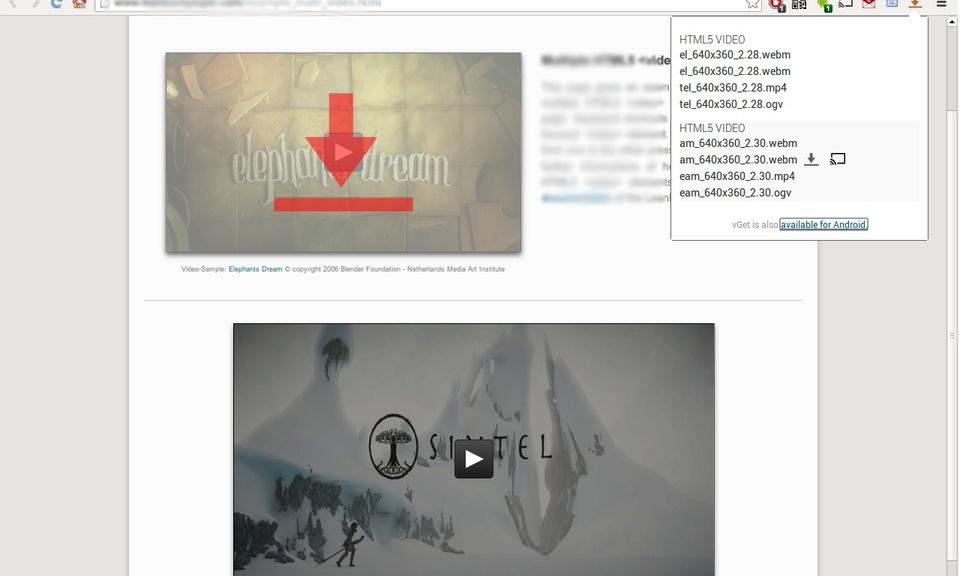 vGet Extension (Video Downloader, DLNA)